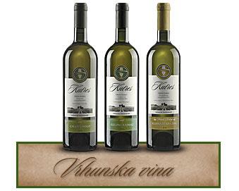 Vršački Vinogradi Vrhunska vina Kutres vršački rizling, Kutres šardone, Kutres rizling rajanski