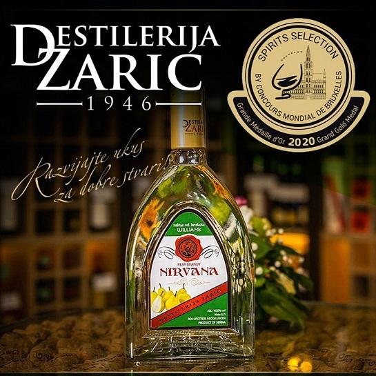 Rakija Nirvana Zarić jedna je od deset najboljih alkoholnih pića na svetu
