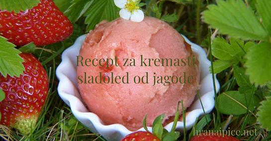Kremasti sladoled od jagode