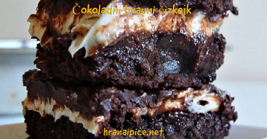 Čokoladni brauni čizkejk