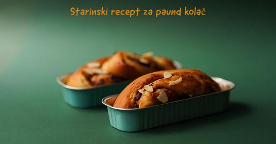 Starinski recept za paund kolač (pound cake)