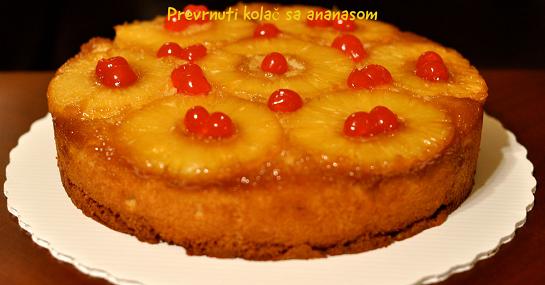 Prevrnuti kolač sa ananasom