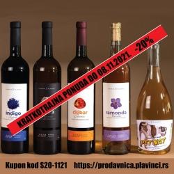 Organska vina Vinarije Plavinci akcija