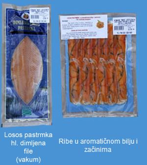 Ribnjak Rača doo hladno dimljeni file losos pastrmke, ribe u aromatičnom bilju