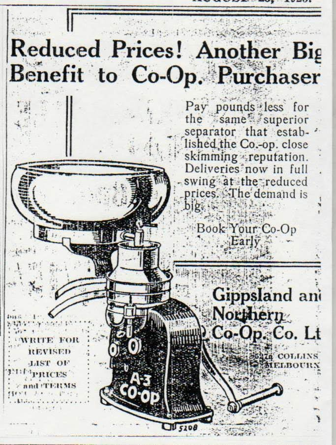 A3 Co-op Separator, Gippsland and Northern Co-op Co. Ltd., The Weekly Times, 25 August 1923