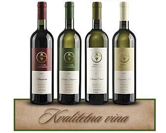 Vršački Vinogradi Kvalitetna vina Frankovka, Rizling Italijanski, Muskat Otonel, Helvecija
