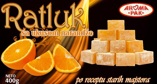 Aroma Pak doo Užice Slatki program Ratluk sa ukusom narandže