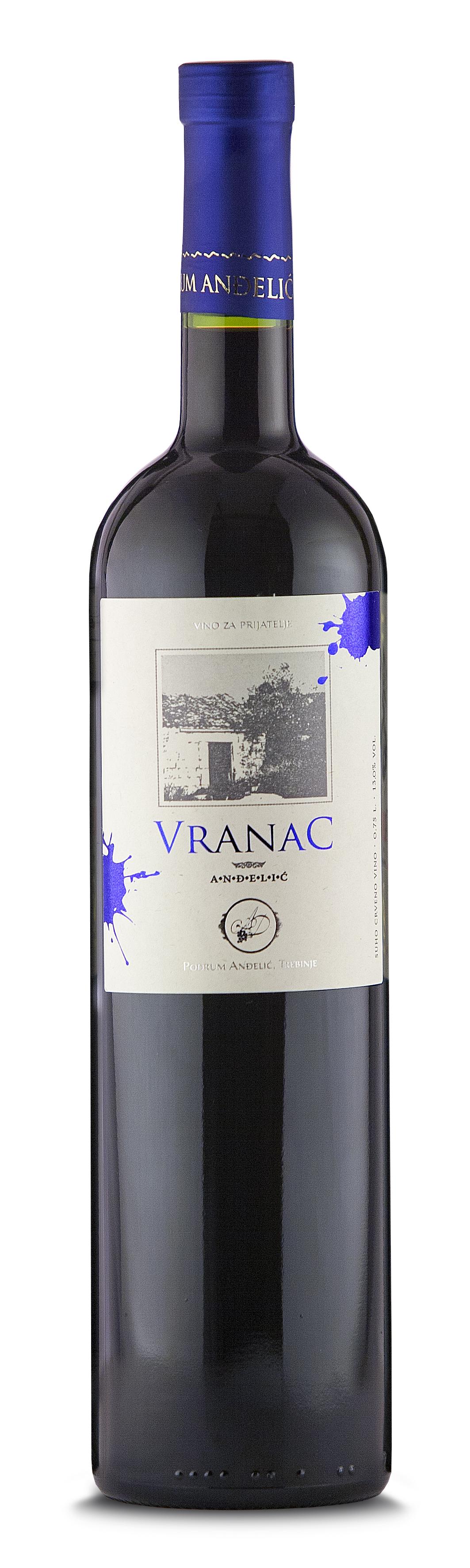 Podrum Anđelić Trebinje Crveno vino Vranac Anđelić, Red Wine