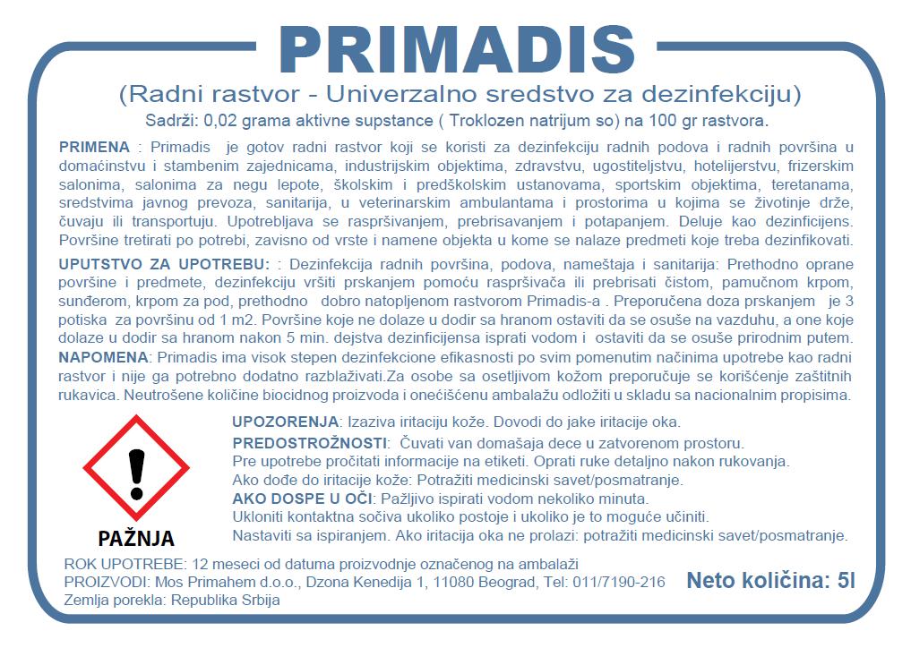 etiketa_deznfekciono_sredstvo_primadis