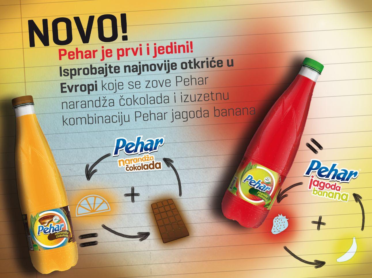 Elixir Natura doo Pehar narandža čokolada i Pehar jagoda banana