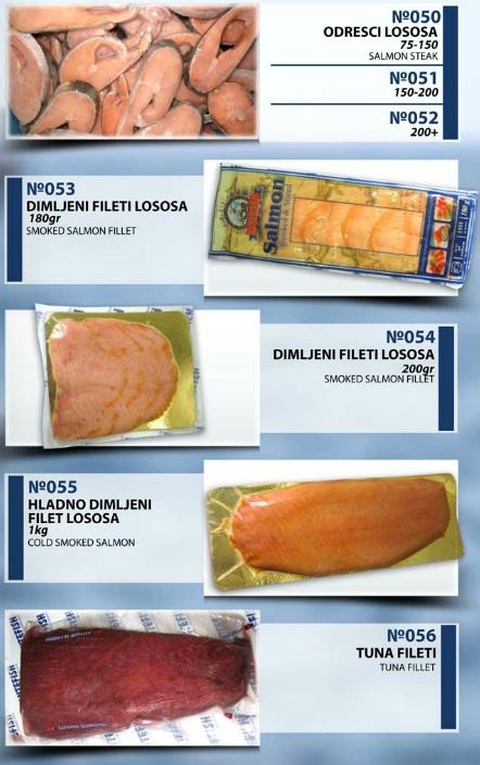 Montefish doo Tivat odresci lososa, dimljeni filet lososa, hladno dimljeni filet lososa, tuna fileti